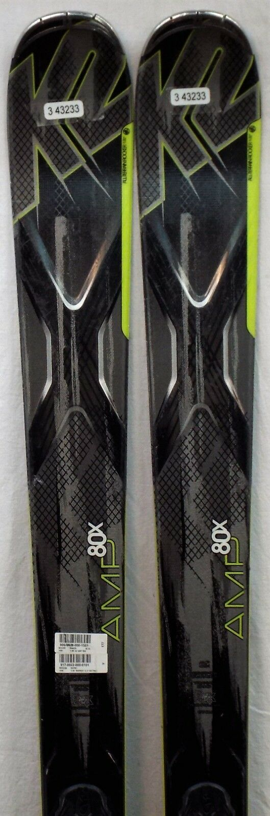 14-15 K2 AMP 80X Gebruikte Demo Ski's voor mannen w Bindings Grootte 177cm 35;34323