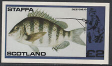 GB Locals - Staffa 3518 - 1979  FISH imperf deluxe sheet unmounted mint