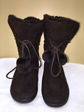 Rouge Helium Brown Faux Fur lining -over the ankle- Winter Boots SZ 6 pre-owned