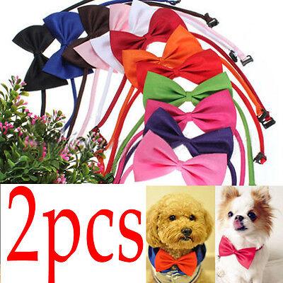 2Pcs Cute Fashion  Dog Cat Pet Puppy Toy Kid Cute Bow Tie Necktie Collar Clothes