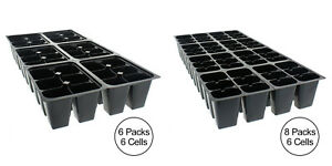 10-Pack-DEEP-Inserts-36-or-48-Cells-Seed-Starter-Cuttings-Cloning-Veggies