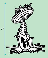 Max Grundy zappo Pegatina Atomic Kustom Kulture Lowbrow Arte USA UFO Nave Espacial