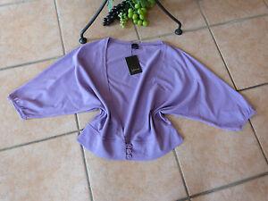 Details zu INTOWN Shirt Jacke Bolero Damen 36 38 S NEU! fliederfarben Baumwolle