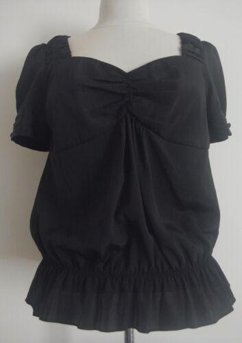 NEXT Black Silky Blouse Size 6 Reg  RRP £25