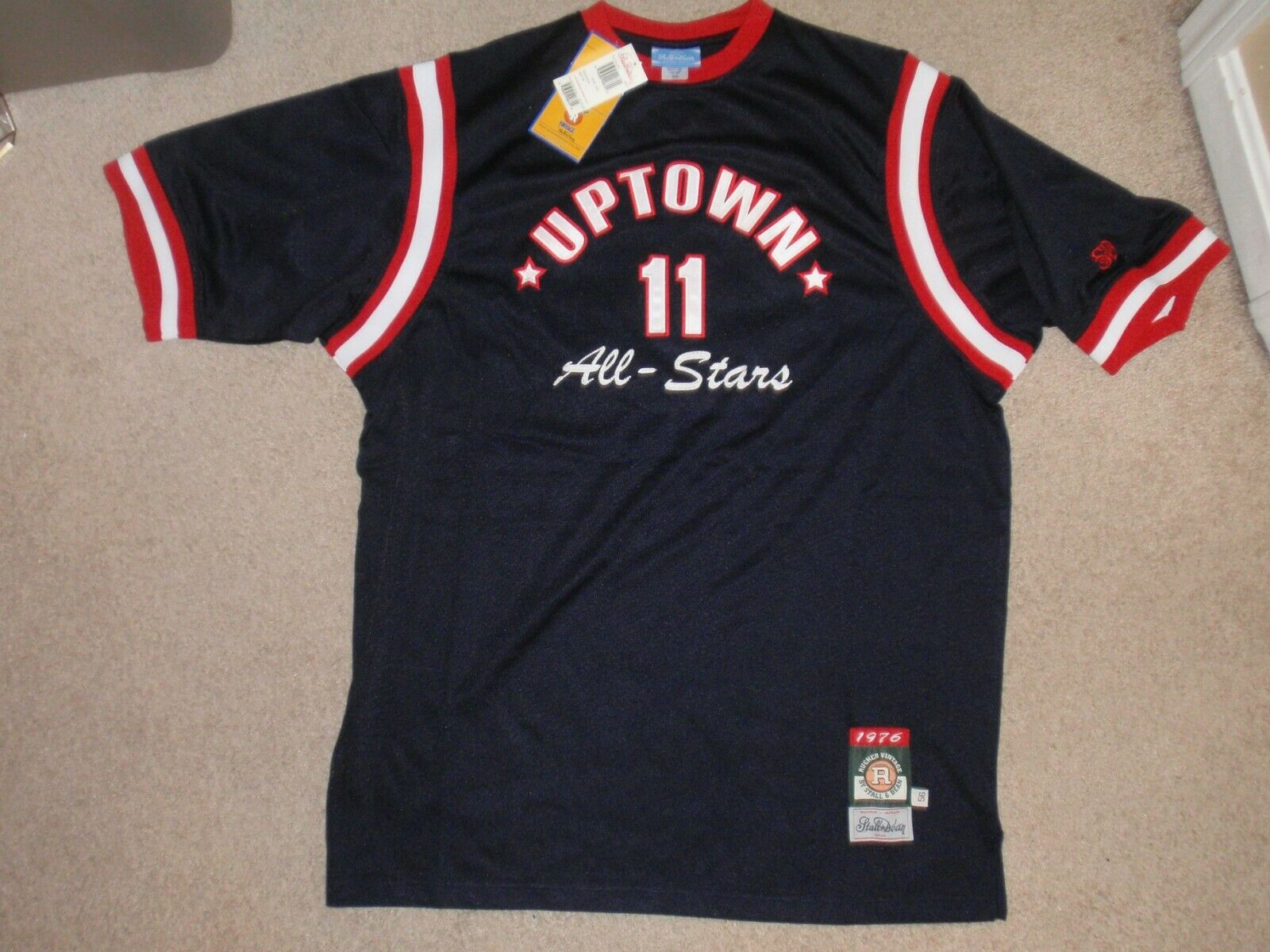 Nueva con etiquetas para hombres 3XL XXXL Stall & Dean Rucker Uptown todas las estrellas Baloncesto Camiseta Top