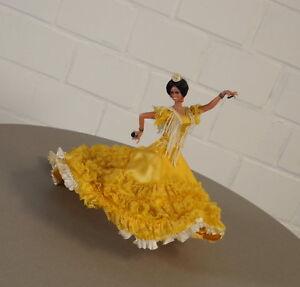 Rare Noble Collectible Doll Danseuse de Flamenco Vintage Années 50 Années 60 Espagne Rar