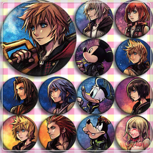 Badge Pin Button Bags Anime Kingdom Hearts Pendant Garniture Brooch 13Pcs #V3