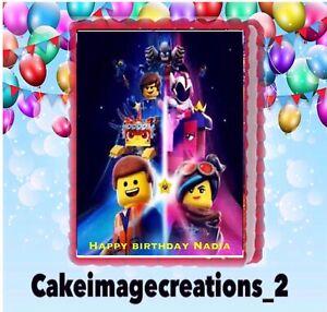 Awe Inspiring Lego Movie Birthday Edible Frosting Image Cake Topper Party 1 4 Birthday Cards Printable Trancafe Filternl