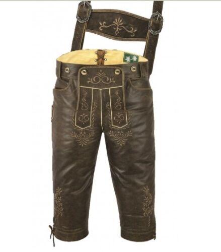 Cuir trägerhose Hommes Costumes-Pantalon Cuir Costumes Pantalon Cuir Nappa Antik