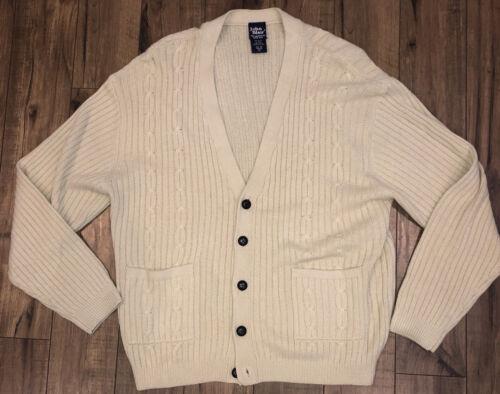 John Blair Cardigan Cable knit Sweater Men's XL G… - image 1