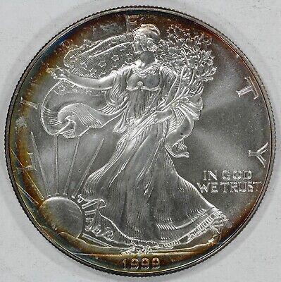 1988 Silver American Eagle BU 1 oz Coin $1 Dollar Uncirculated Toned U.S Mint