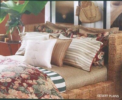 NEW Rare Ralph Lauren Desert Plains Flat Sheet  Wicker  ~ Cozy ~