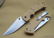 CRKT CRAWFORD KASPER TACTICAL FOLDING KNIFE TAN 5.25 INCH CLOSED HEAVY DUTY NEW!