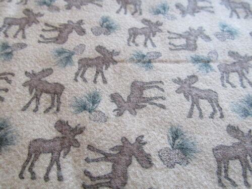 MODA Holly Taylor Flannel fabric MOOSE or Tree choose BTHY half yard cut