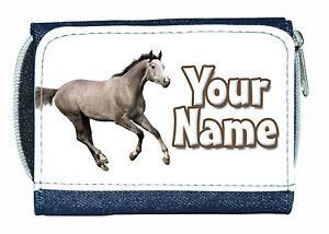 2019 Nouveau Style Dapple Grey Horse Personnalisé Dames / Filles Denim Sac à Main-grand Don Commémoratif Valeur Formidable