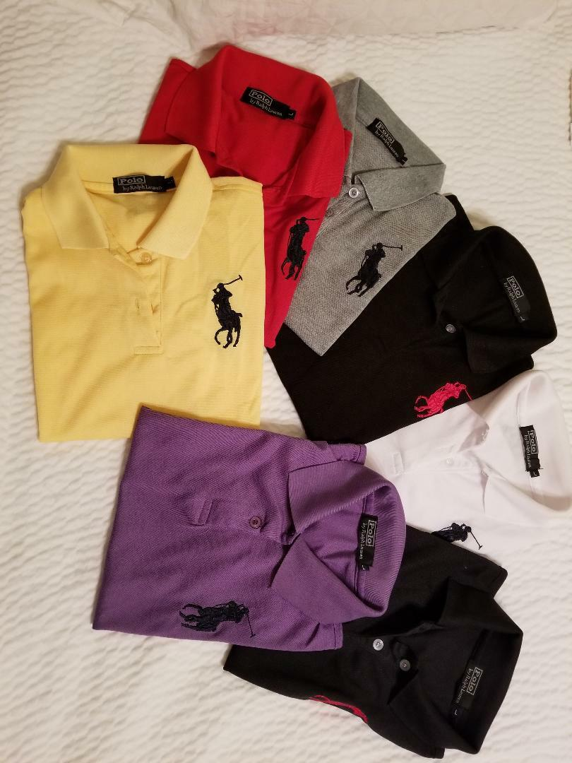 Ralph Lauren Girls Boys Big Pony Skinny Fit Mesh Polo Shirt lot