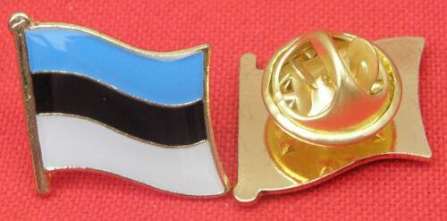 Estonia Estonian Country Flag Lapel Hat Cap Tie Pin Badge Brooch Republic