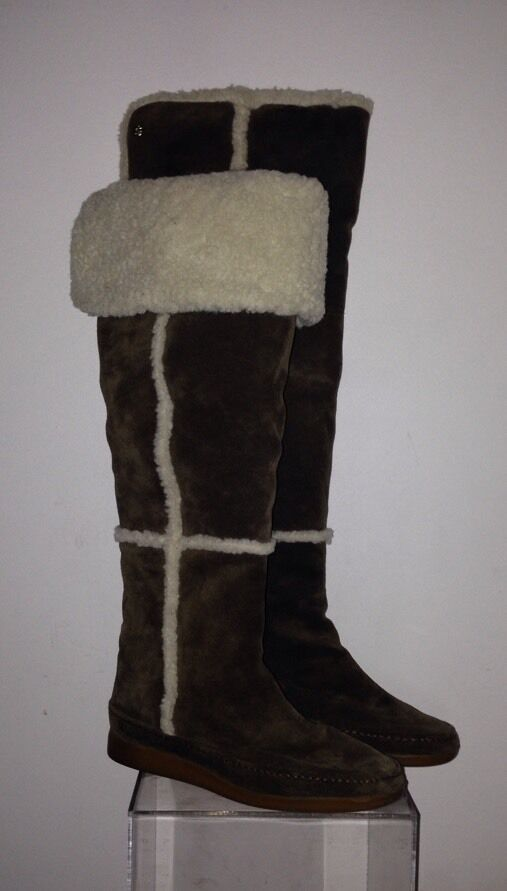 Michael Kors Womens Weather Tall Over Knee High Pull On Shealing Casual Boot 5.5