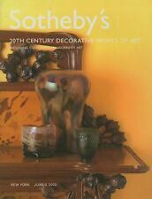 Sotheby's /// 20th C. Art Design Deco Nouveau Post Auction Catalog 2002