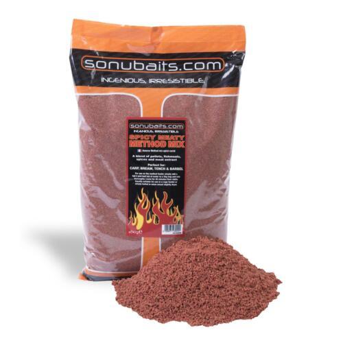 S0770001 Pastura Sonubaits Spicy Meaty Method Mix 2 Kg Pesca Fiume  CAS