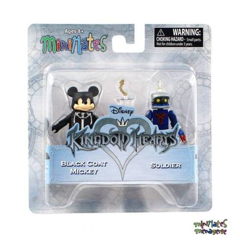 Kingdom Hearts Minimates Series 2 Black Coat Mickey /& Soldier Organization 13