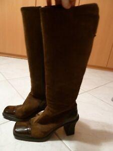 Geox in Stiefel in Geox Größe 39, braunes Wildleder mit Lackleder abgesetzt ... 7a502d