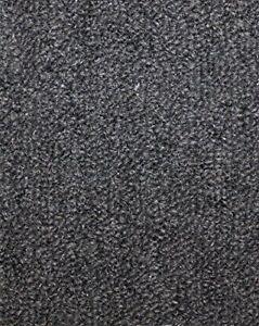 Image is loading Charcoal-Indoor-Outdoor-Level-Loop-Area-Rug-Carpet