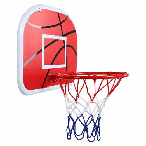 "10/"" Hoop Durable Basketball Goal Hoop Nylon Net Sports Board Wall Mounted"