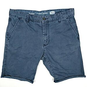 Industrie-Men-039-s-Shorts-Size-32-Blue-Roll-Up-Hem-Vintage-034-Garment-Makers-034-Design