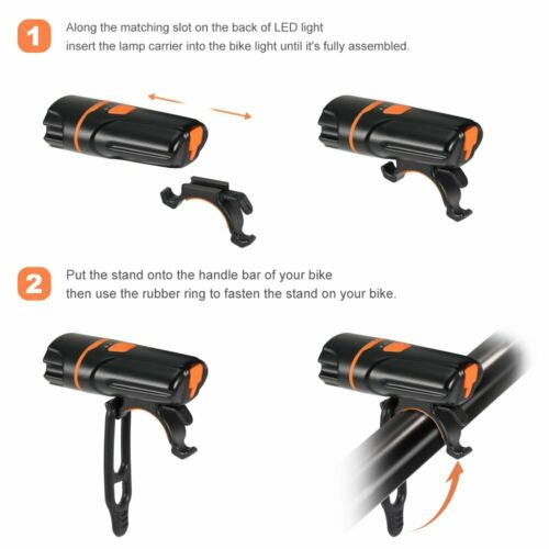 Bright 1200 Lumen USB Rechargeable Bike Bicycle Headlight Front Back lights NGUK