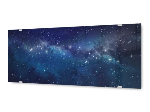 Glasbild Wandbild GLX12581556974 Universum Weltall 125 x 50cm
