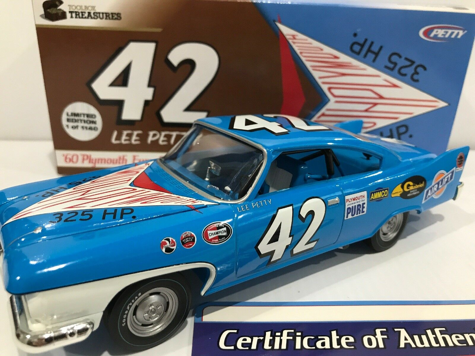 Lee Petty 1960 Plymouth Fury 1/24  Toolbox Treasures