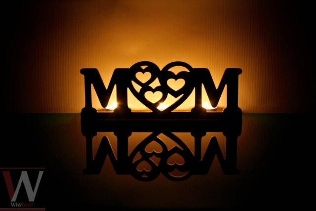 MUM tea light holder - perfect gift for mother mum mom mama, laser cut, WhyNot?