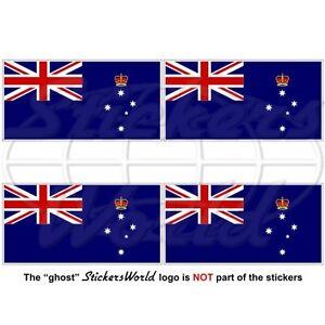 VICTORIA-State-Flag-Australia-AU-VIC-Australian-Vinyl-Stickers-Decals-50mm-x4