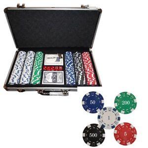 Details Zu Pokerkoffer Pokerchips Jetons 300 Chips 115g Pokerset Alu Koffer Poker Set Deu