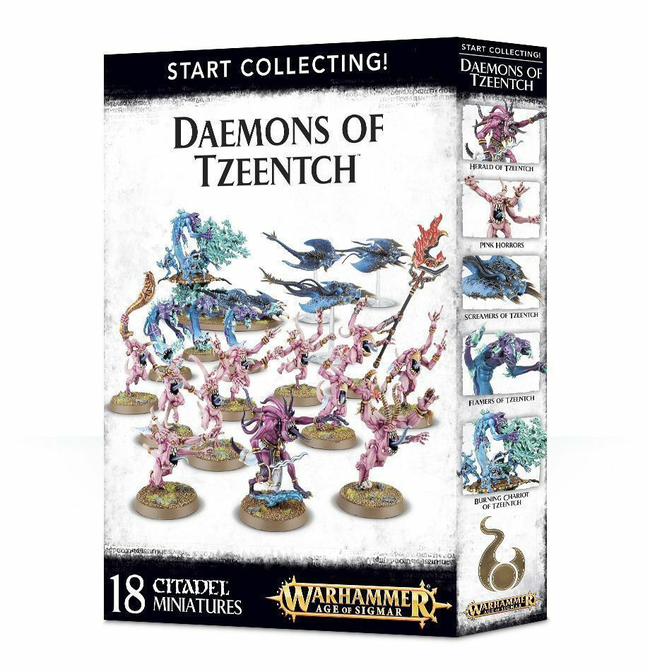 Games Workshop Age of Sigmar Warhammer 40K Start Collecting  Daemons of Tzeentch