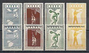 Peru stamps 1948 MI 458-461+547-550 OLYMPICS MNH VF