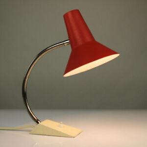 alte-SIS-Tisch-Lampe-Schwanenhals-Schrumpflack-Lese-Leuchte-50er-60er-Jahre