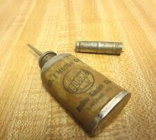 VINTAGE OILER GUN FISHING REEL CLOCK MINI OIL CAN TIN BODINE ELECTRIC NEEDLE TOP