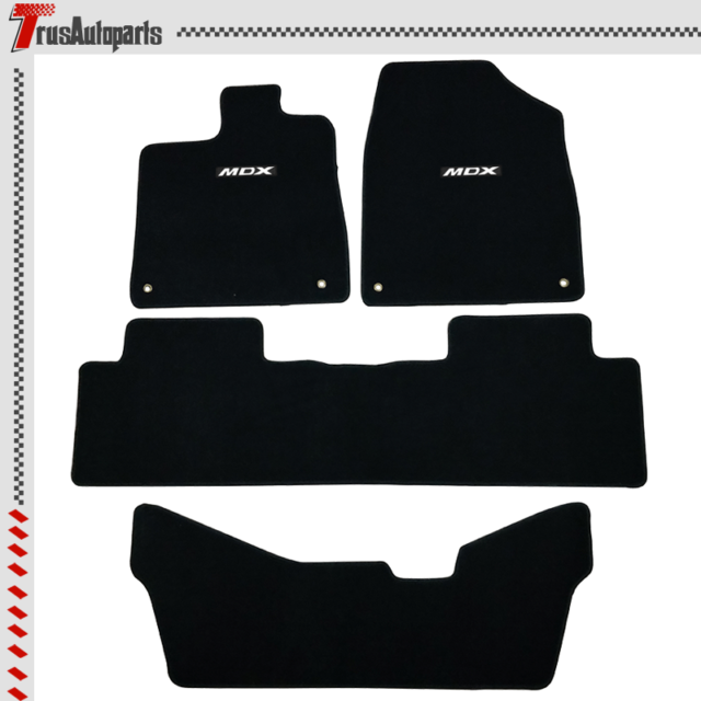 All Weather Floor Mat Set For 14-20 Acura MDX Black Front