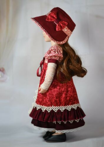 """Digital Pattern Dress Hat Pinafore for 16/"""" A Girl for All Time AGAT Dolls"""