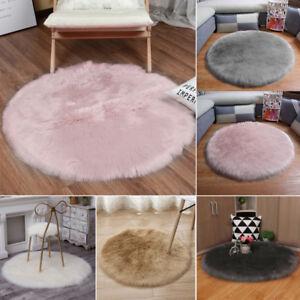 Miraculous Details About Round Fuzzy Long Hair Sheepskin Fur Rugs Area Floor Carpet Rug Sofa Chair Cover Creativecarmelina Interior Chair Design Creativecarmelinacom