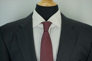 Burberry-London-Kensington-Gray-Pinstriped-Wool-2-Piece-Suit-Jackt-Pants-Sz-42R