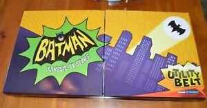 ADAM-WEST-1966-Batman-Series-Utility-Belt-WITH-BATARANG-New-Box-adlt-SIZE-Mattel