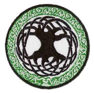 Patch-ecusson-patche-Arbre-de-vie-celte-thermocollant-custom-celtique-tree-life