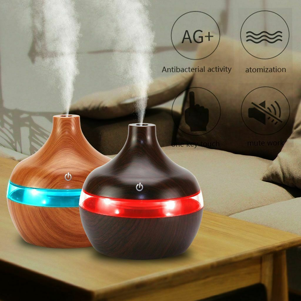 7LED Essential Oil Diffuser Humidifier Air Aromatherapy  Ultrasonic Aroma 130ml