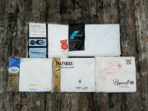 New old stock VINTAGE made in USA selvedge bed sheets combed percale pima muslin