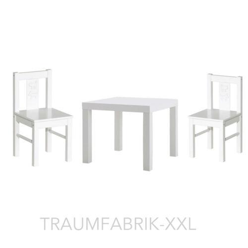IKEA Kindersitzgruppe Kindertisch 2x Kinderstuhl Sitzgruppe weiß KRITTER LACK