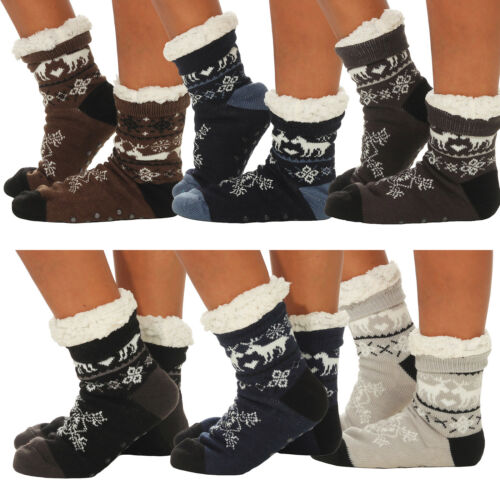 Calze Uomo da capanne calze morbidose cuciture Pantofole capanne Scarpe Invernali Uomo 008