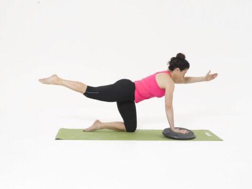 Training for balance cushion//board Wall Chart Core Balance Stability